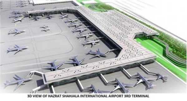 Third terminal of Shahjalal International Airport to be built